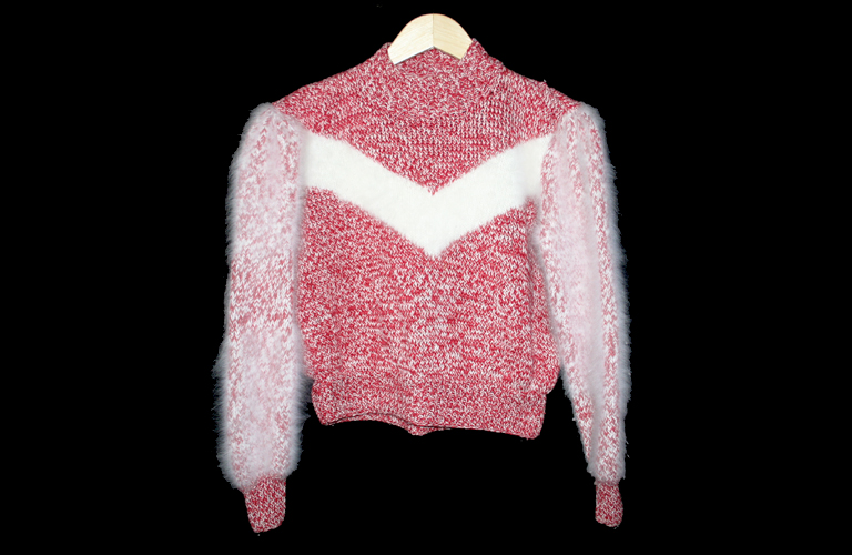 Hand Knitting With Arms : Furry hairy arms hand knit ugly sweater women s size small