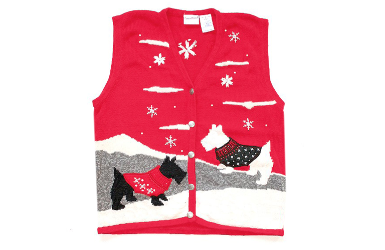 Dogs in Sweater Vests Sweater Vest Women's Size