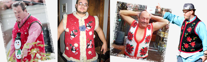 Ugly Christmas Sweater Vests for Big & Tall Men from The Ugly Sweater Shop