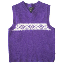 Abercrombie & Fitch Purple Wool Tacky Ugly Ski Sweater Vest Women's Size Medium (M)