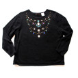 Bedazzled Blingy Gem Tacky Ugly Sweater Women's Plus Size 1X