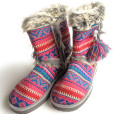 """""""Cierra"""" Ugly Sweater Nordic Knit Mukluk Slippers"""