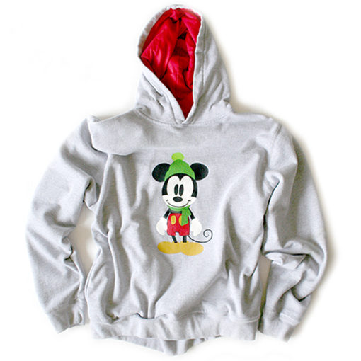 Disney Mickey Mouse Ugly Christmas Hoodie Sweatshirt Women's Size Large (L)