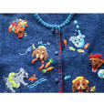 """""""Dog's Summer Vacation"""" Tacky Short Sleeve Cardigan Ugly Sweater Women's Size XL 2"""