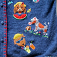 """""""Dog's Summer Vacation"""" Tacky Short Sleeve Cardigan Ugly Sweater Women's Size XL 3"""