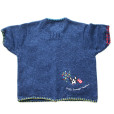 """""""Dog's Summer Vacation"""" Tacky Short Sleeve Cardigan Ugly Sweater Women's Size XL 4"""