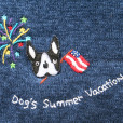 """""""Dog's Summer Vacation"""" Tacky Short Sleeve Cardigan Ugly Sweater Women's Size XL 5"""