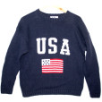 Fourth of July Independence Day Patriotic USA Flag Tacky Ugly Sweater Men's Size Medium (M)
