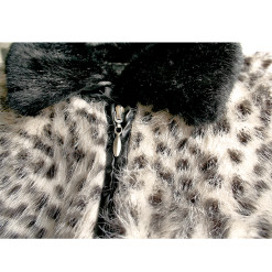 Hairy Chest Tacky Leopard Fur Ugly Sweater Women's Size Medium (M)