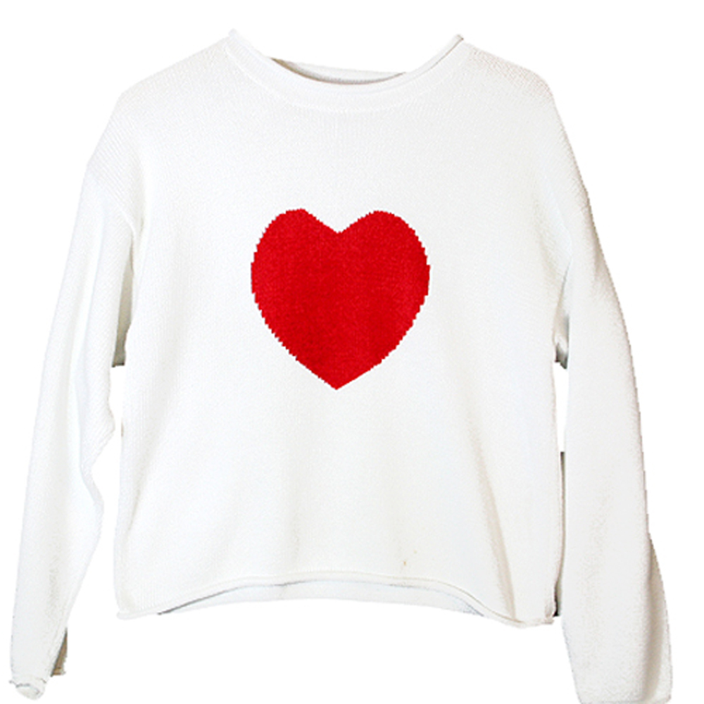 Valentines Day Sweater With Hearts For Woman 105