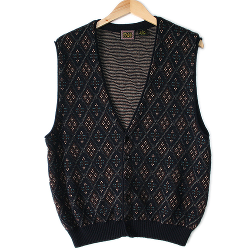 Quot Old Grandpa Quot Tacky Ugly Sweater Vest The Ugly Sweater Shop