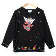Quacker Factory Angel in Plaid Tacky Ugly Christmas Sweater Women's Plus Size 1X:2X