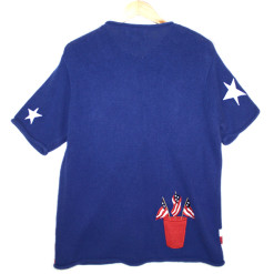 Quacker Factory Fourth of July Independence Day Patriotic Tacky Ugly Sweater Women's XL (1X)
