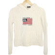 Ralph Lauren Fourth of July Independence Day USA Flag Tacky Ugly Sweater Women's Size Medium (M)