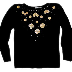 Shake Your Moneymaker Coin Theme Tacky Ugly Sweater Women's Size Medium (M)