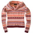 Soft Big Collar Nordic Tacky Ugly Ski Sweater Women's:Junior's Size Small:Medium (S:M)