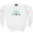 Vintage 80s Eddie Bauer Cross Stitch Bluebird Heart Tacky Ugly Sweater Women's Size Large (L) 2a
