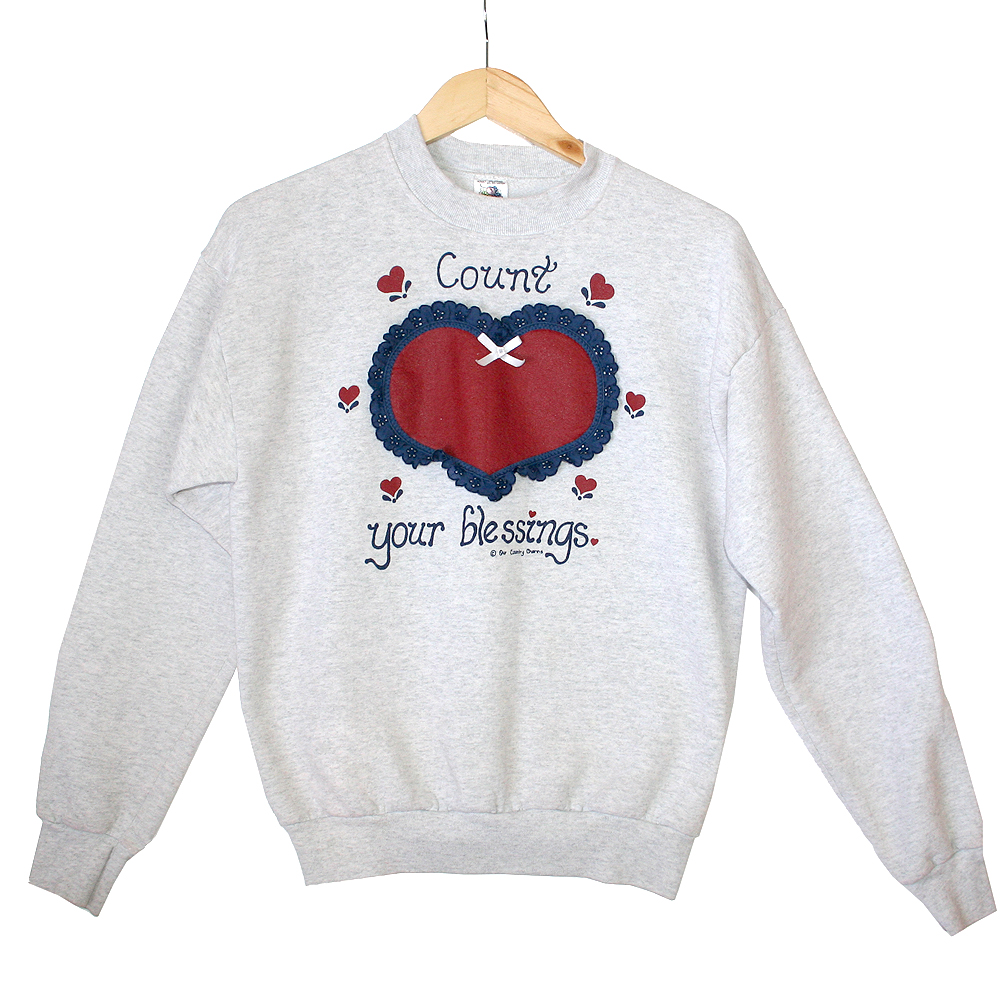 """Country Heart """"Count Your Blessings"""" Tacky Ugly Sweatshirt ..."""