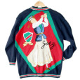 """Ladies League"" Oversized Golf Cardigan Tacky Ugly Sweater"