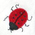 Ladybugs & Bees Short Sleeve Tacky Ugly Sweater womens size small 3
