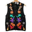 Mr Hankey Ghosts & Elf Shoes Tacky Ugly Halloween Sweater Vest
