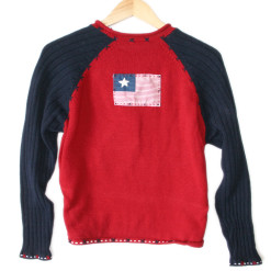 Patriotic Teddy Bear 4th of July USA Flag Independence Day Ugly Sweater