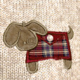 Puppy in a Plaid Envelope Tacky Ugly Sweater 3