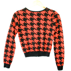 H&M Divided Houndstooth Halloween Cardigan Ugly Sweater 2