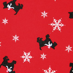 Scottie Dogs and Snowflakes Tacky Ugly Christmas Turtleneck