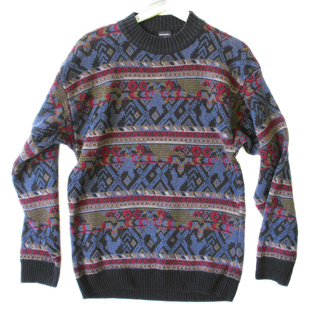 Vintage 80s Generra Men's Nordic Cosby Sweater - The Ugly ...