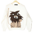 Vintage 80s Lion Acrylic Ugly Sweater