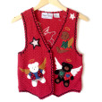 All Teddy Bears Go To Heaven Tacky Ugly Christmas Sweater Vest