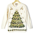 Big Christmas Tree Tacky Ugly Christmas Sweater