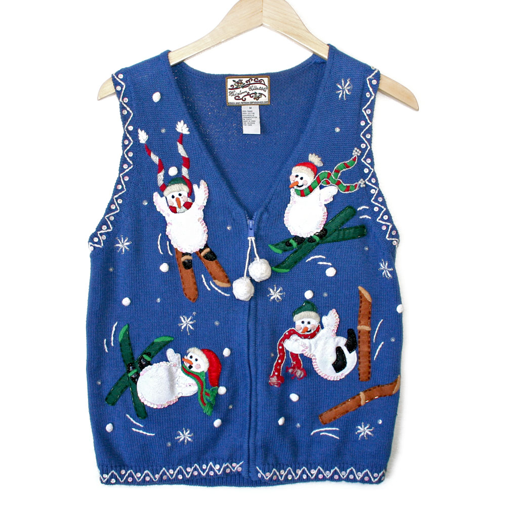 Ugly christmas sweaters vest