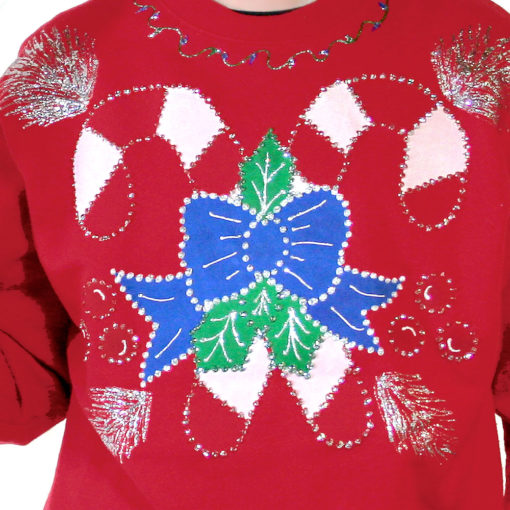 Up candy cane ugly christmas sweatshirt the ugly sweater shop