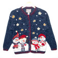 American Snowman Family Tacky Ugly Christmas Sweater