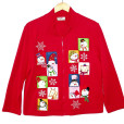 Faces of Christmas Tacky Ugly Christmas Cardigan Sweatshirt