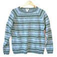 LL Bean Cotton Fair Isle Ugly Ski Sweater