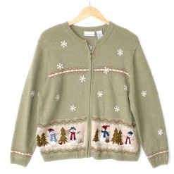 Let It Snow Snowmen Wooly Ugly Christmas Sweater