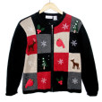 Reindeer and Cardinals Wooly Ugly Christmas Sweater