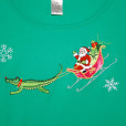 Rudolph The Red Nosed... Gator? Tacky Ugly Christmas Shirt