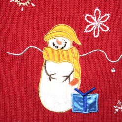 Stoned Snowmen Tacky Ugly Christmas Sweater Vest
