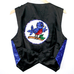 Twitter Blingy Bedazzled Bluebird Sequin Vest