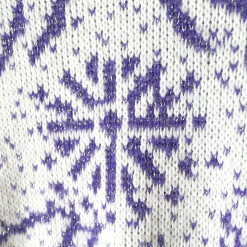 Vintage 80s Purple Sparkle Fireworks Ugly Sweater