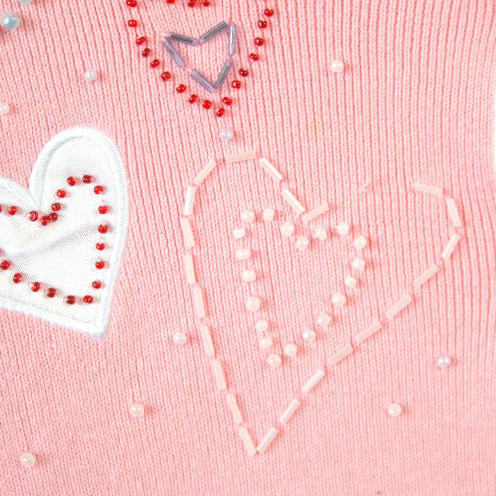 Valentines Day Sweater With Hearts For Woman 65