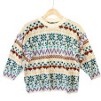 Vintage 80s 8-Bit Hearts and Flowers Tacky Ugly Sweater