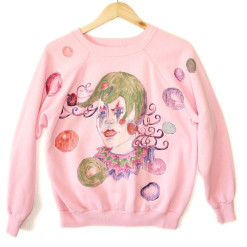DIY Jester / Creepy Clown Tacky Ugly Sweatshirt