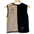 Dogs with Bones Black & Tan Tacky Ugly Sweater Vest 2