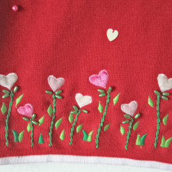 Rain on my Garden of Hearts Valentines Ugly Sweater