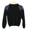 Roses On My Shoulders Vintage 90s Ugly Gem Sweater